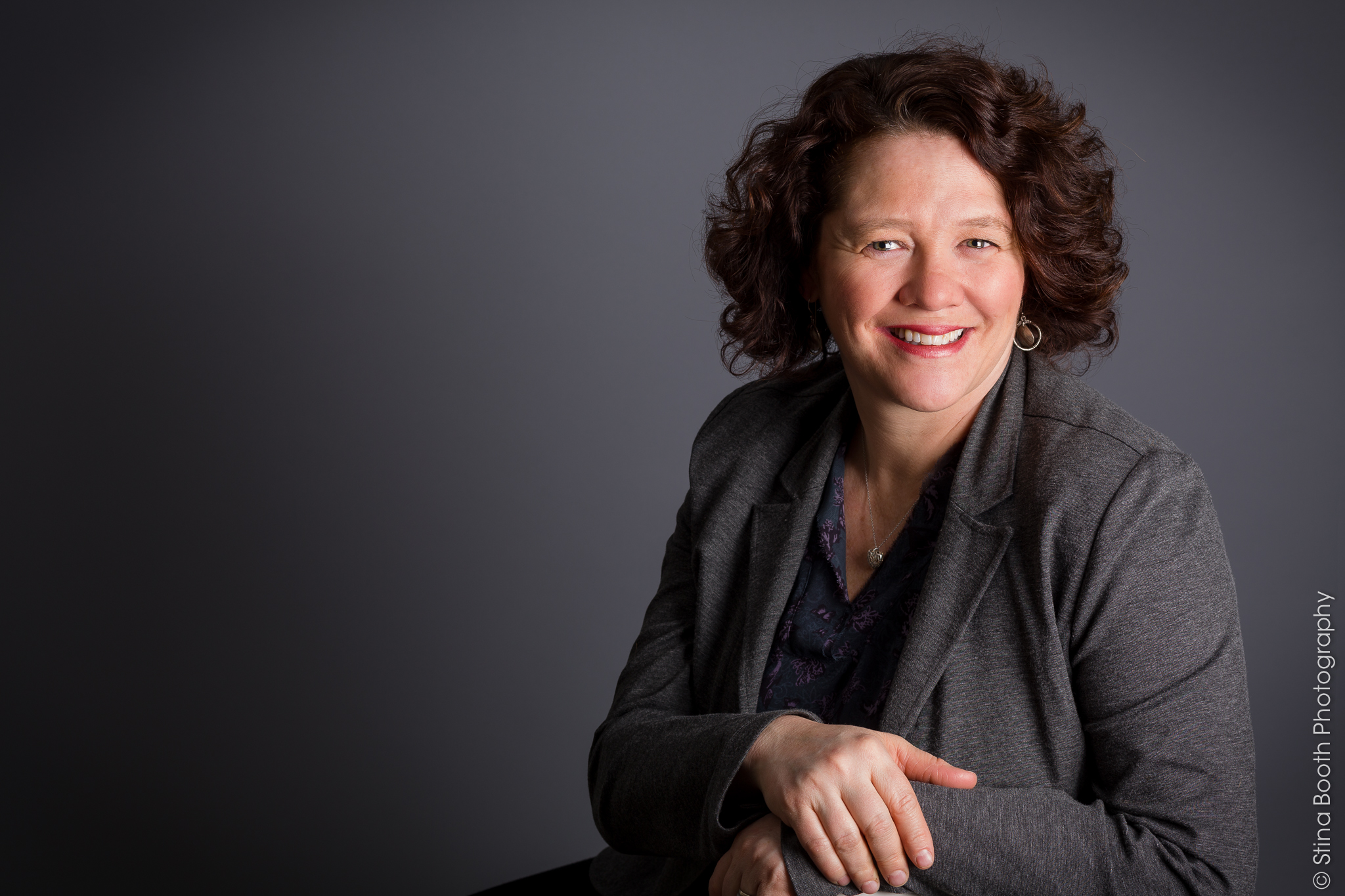 Portrait of Denise Smith by Vermont commercial photographer Stina Booth