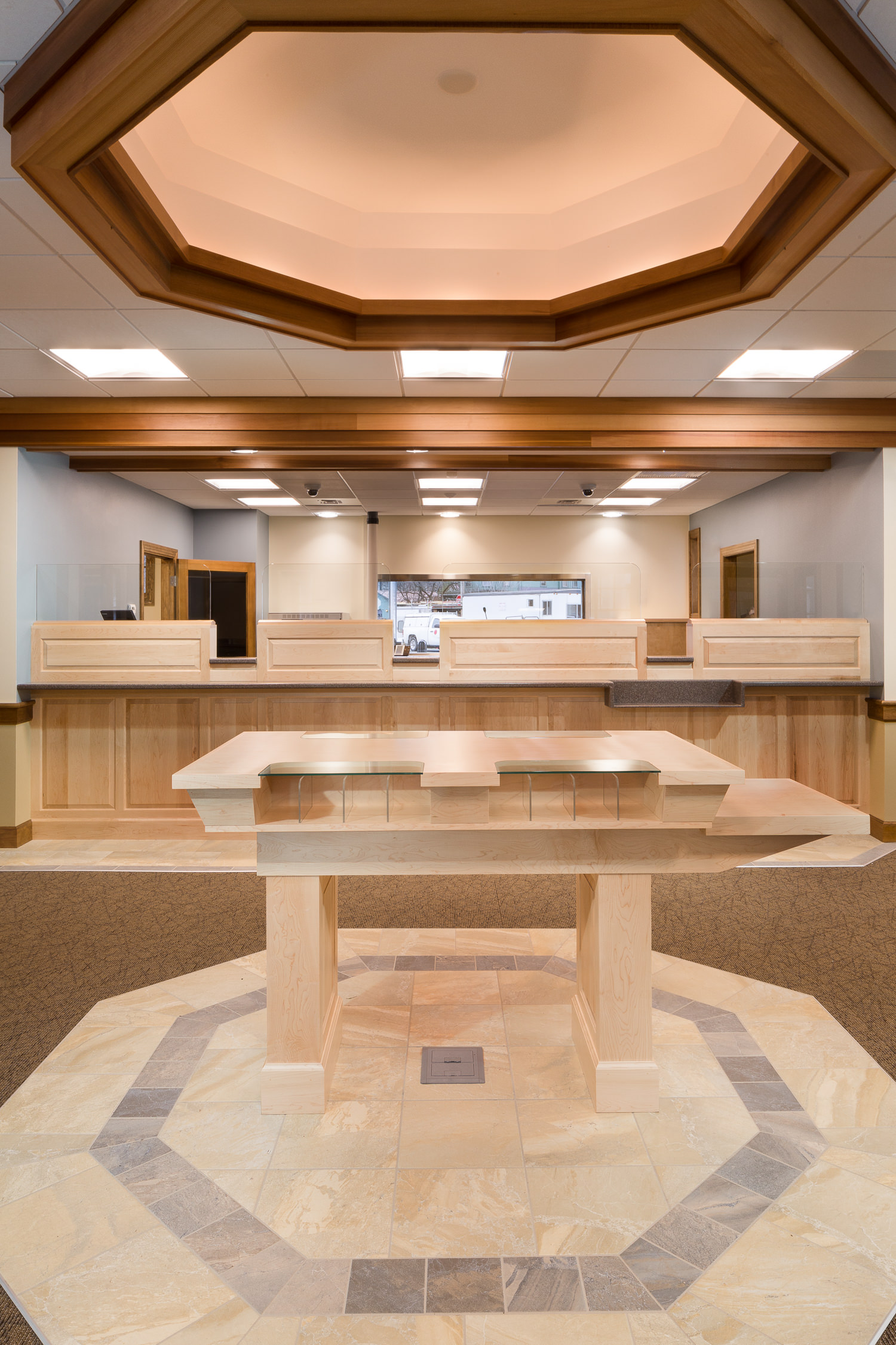 Architectural photo of commercial & municipal spaces for Neagley & Chase Construction Co by Stina Booth of Studio SB