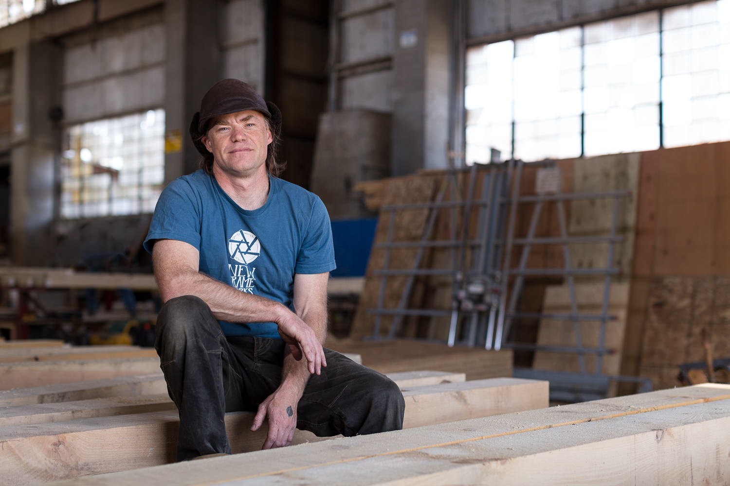 Ben Graham, managing partner of New Frameworks Natural Building, Vermont